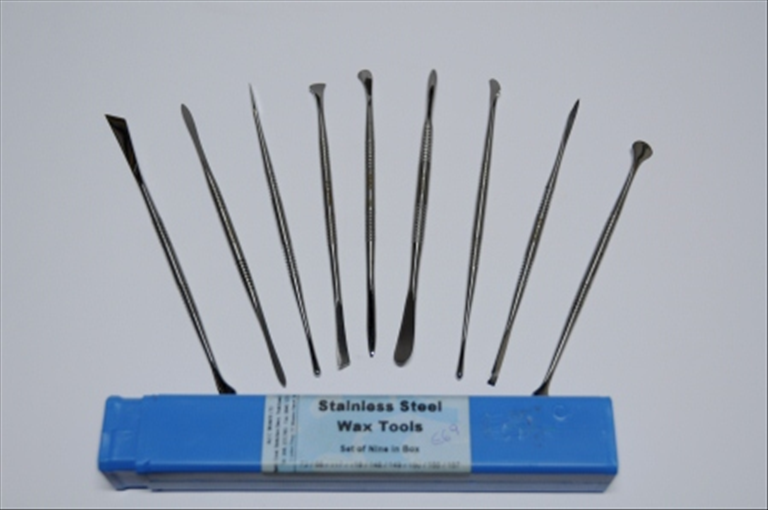 Stainless Steel Wax Tools - Set of 9pc in Box